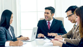 The executive director strain and complain in the serious meetin Royalty Free Stock Photography