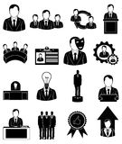 Executive employee icons set Royalty Free Stock Photography
