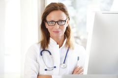 Executive female doctor royalty free stock image