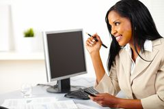 Executive female using a cellphone Stock Photos