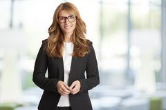 Financial consultant businesswoman portrait Royalty Free Stock Photos