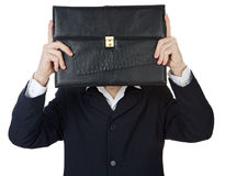 Executive with the full head of businesses Royalty Free Stock Photo