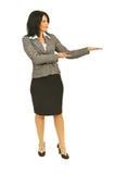 executive full längd som gör presentation arkivfoto
