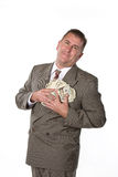 Executive and his cash Stock Photo