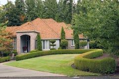 Executive Home. An upscale executive home in the suburbs stock photos