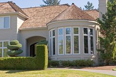 Executive Home. An upscale executive home in the suburbs royalty free stock photography