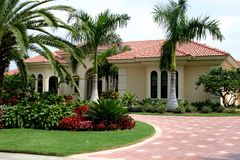 Executive Home in Tropics Royalty Free Stock Images