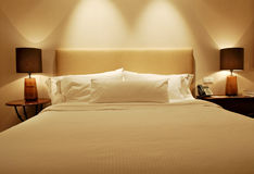 Executive Hotel Bedroom. Close up Stock Images