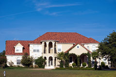 Executive House. Large executive house in an affluent suburban neighborhood Stock Image