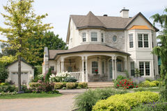 Executive House with unistone driveway Stock Images