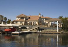Executive house on the water Royalty Free Stock Images