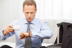 Executive in a hurry. Royalty Free Stock Image