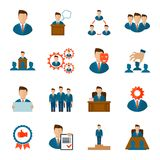 Executive icons flat Royalty Free Stock Photos