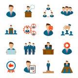 Executive icons flat Royalty Free Stock Photos