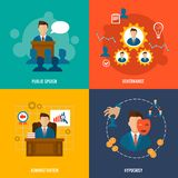 Executive icons flat Stock Photography