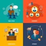 Executive icons flat Stock Photography