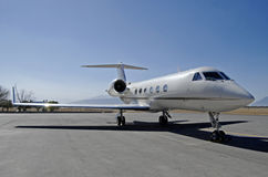 Executive jet front Royalty Free Stock Photos