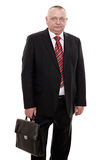 Executive man with briefcase Stock Images