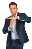 Executive man gesture time out Royalty Free Stock Photo