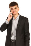 Executive man on phone mobile Royalty Free Stock Photo