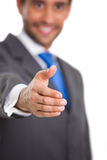 Executive man shaking hands Stock Photos