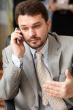 Executive mature businessman on the phone Stock Photos