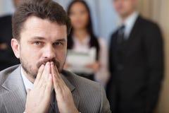 Executive mature businessman on the phone Stock Image