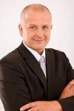 Executive mature businessman professional suit Stock Photography