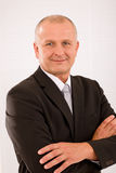 Executive mature businessman professional suit Royalty Free Stock Image