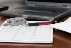 Executive Mobile Desktop Royalty Free Stock Images
