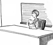 Executive and Mother. Business illustration of a woman who is both a mother and an executive Stock Photos