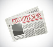 Executive newspaper illustration design Stock Photo