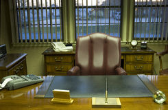 Executive office. Office desk and furniture in executive room