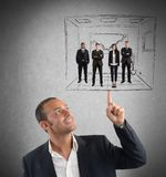 Executive operates with simplicity Stock Photography