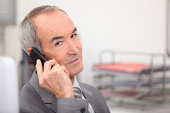 Executive on the phone Stock Photography