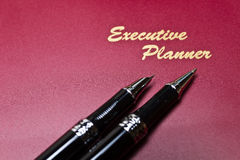 Executive Planner And Pen Series IV Royalty Free Stock Photos