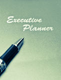 Executive Planner Split Tone Stock Photo