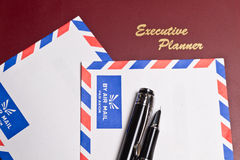 Executive Planner and  Two Envelopes Royalty Free Stock Photo