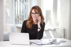 Executive professonal woman with mobile phone Stock Photo
