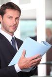 Executive reading report Royalty Free Stock Photo