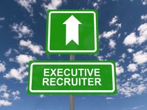 Executive recruiter ahead Stock Photo