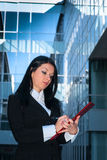 Executive with red folder Stock Images