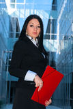 Executive with red folder Royalty Free Stock Photos