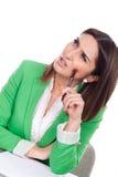 Executive secretary thinking Royalty Free Stock Images