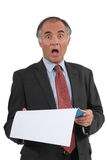 Executive shocked by results Stock Images