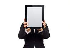 Executive Showing Digital Tablet with Blank Screen Royalty Free Stock Photo