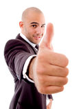 Executive showing thumbs up Stock Images