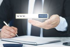 The internet search engine royalty free stock photo