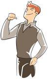 executive själv pekande tum för förtroende vektor illustrationer