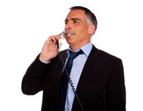 Executive speaking on phone Royalty Free Stock Image